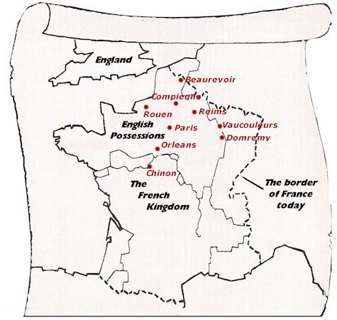 英语手绘路线图
